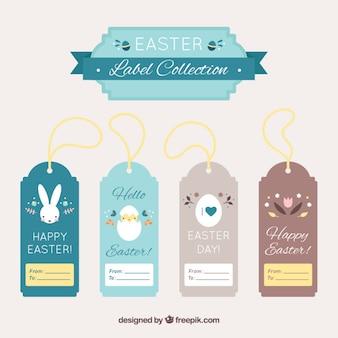 Colección de etiquetas de Pascua