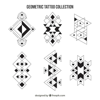 Colección de étnicos tatuajes geométricos