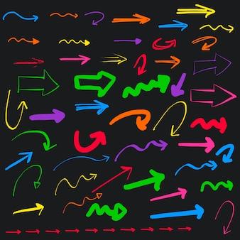 Colección de flechas a color