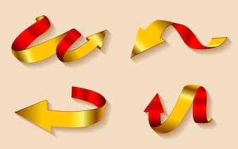 Colección de flechas doradas