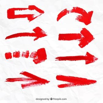 Colección de flechas rojas