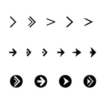 Colección de flechas vectoriales