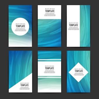 Colección de folletos azules