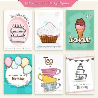 Colección de folletos de fiesta