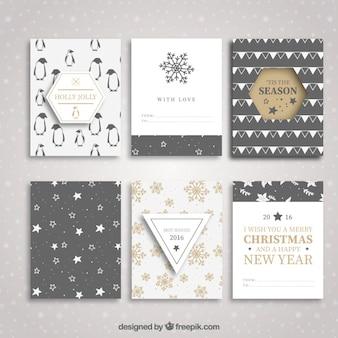 Colección de folletos de navidad y año nuevo