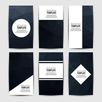 Colección de folletos negros