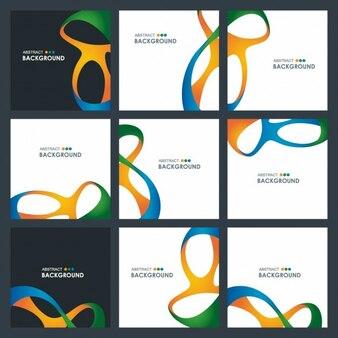 Colección de folletos ondulados