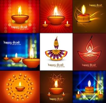 Colección de fondos de diwali