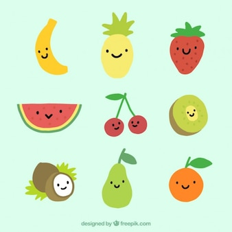 Colección de fruta divertida