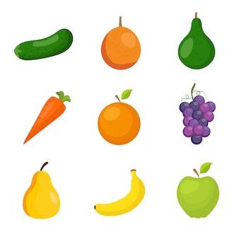 Colección de frutas y verduras