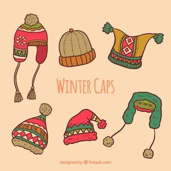 Colección de gorros de invierno