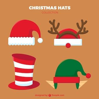 Colección de gorros de navidad