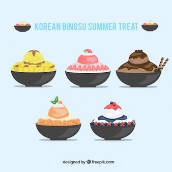 Colección de helados coreanos