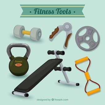 Colección de herramientas de fitness