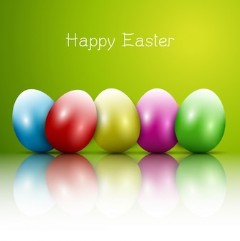 Colección de huevos de Pascua brillantes