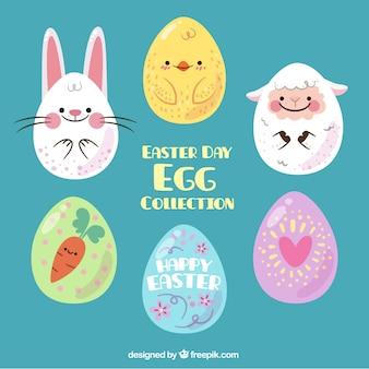 Colección de huevos de pascua impresionantes