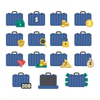 Colección de iconos de ahorros
