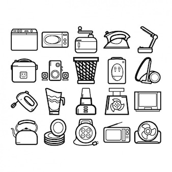 Colección de iconos de aparatos de hogar