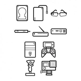 Colección de iconos de aparatos