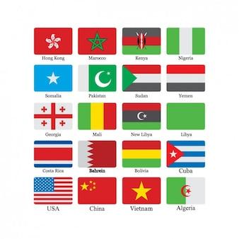 Colección de iconos de banderas