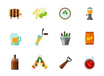 Colección de iconos de bebidas