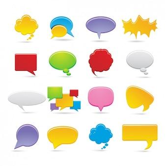 Colección de iconos de bocadillos de diálogo