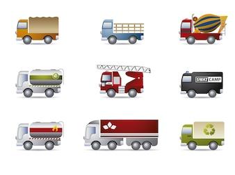 Colección de iconos de camión