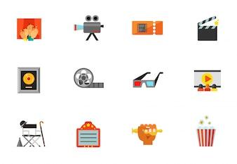 Colección de iconos de cine