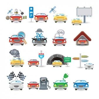 Colección de iconos de coche
