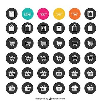 Colección de iconos de compras
