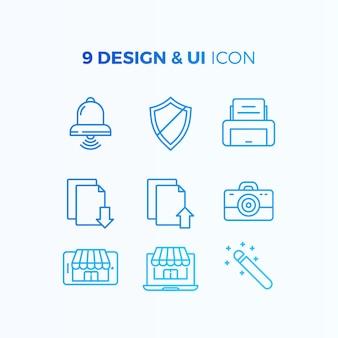 Colección de iconos de diseño e interfaz de usuario
