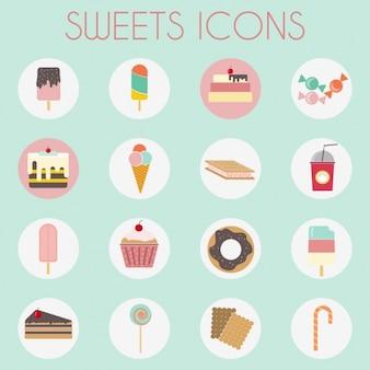 Colección de iconos de dulces
