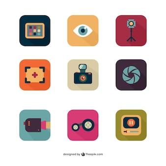Colección de iconos de foto y vídeo