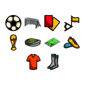 Colección de iconos de fútbol