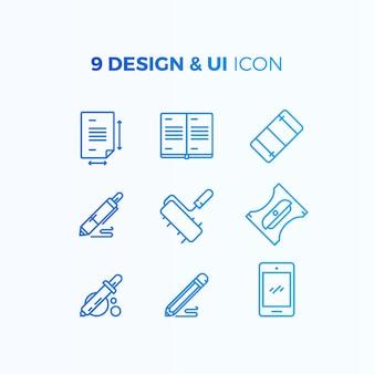Colección de iconos de interfaz de usuario y diseño