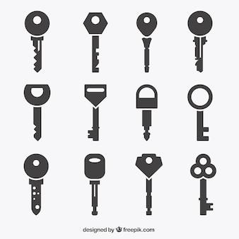 Colección de iconos de llave