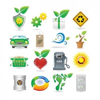Colección de iconos de medio ambiente