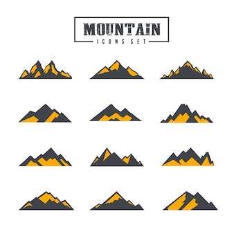 Colección de iconos de montaña