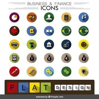 Colección de iconos de negocio y finanzas