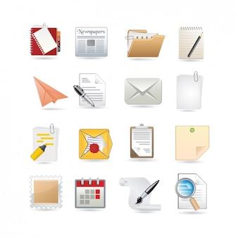 Colección de iconos de papelería