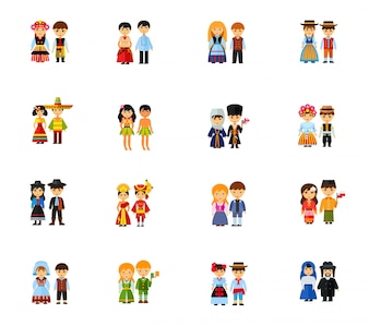 Colección de iconos de parejas