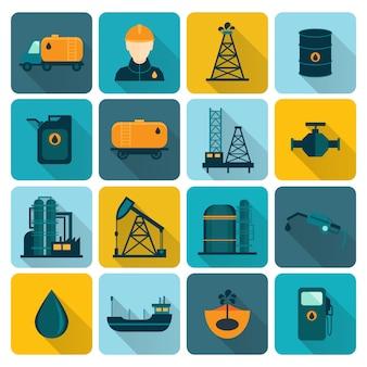 Colección de iconos de petróleo