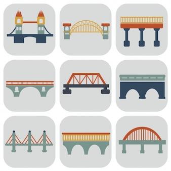 Colección de iconos de puentes