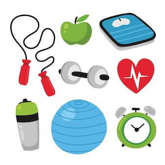 Colección de iconos de salud