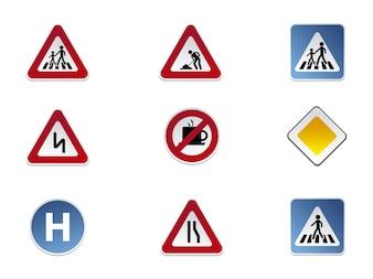 Colección de iconos de señales de tráfico