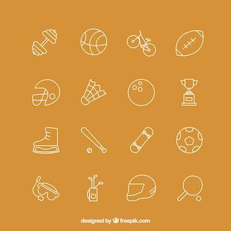 Colección de iconos del deporte