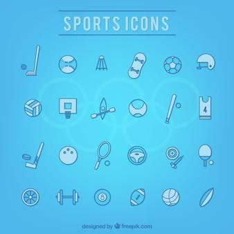 Colección de iconos deportivos dibujados a mano