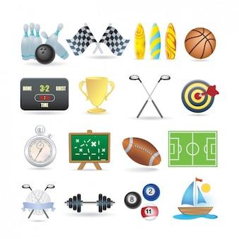 Colección de iconos deportivos