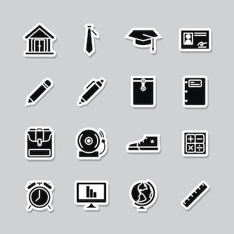 Colección de iconos escolares