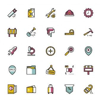 Colección de iconos mezclados
